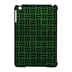 Woven1 Black Marble & Green Leather (r) Apple Ipad Mini Hardshell Case (compatible With Smart Cover)