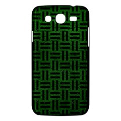 Woven1 Black Marble & Green Leather (r) Samsung Galaxy Mega 5 8 I9152 Hardshell Case