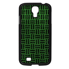 Woven1 Black Marble & Green Leather (r) Samsung Galaxy S4 I9500/ I9505 Case (black)