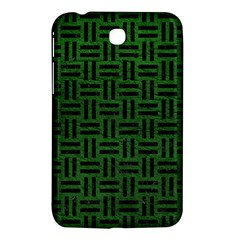 Woven1 Black Marble & Green Leather (r) Samsung Galaxy Tab 3 (7 ) P3200 Hardshell Case
