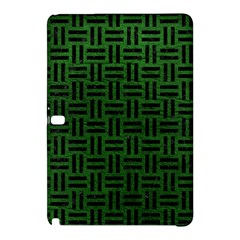 Woven1 Black Marble & Green Leather (r) Samsung Galaxy Tab Pro 12 2 Hardshell Case
