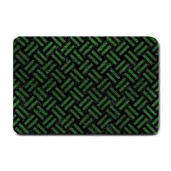 Woven2 Black Marble & Green Leather Small Doormat
