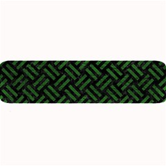 Woven2 Black Marble & Green Leather Large Bar Mats