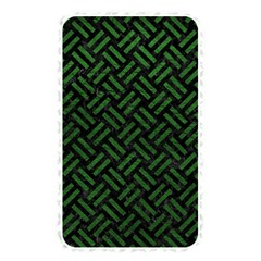 Woven2 Black Marble & Green Leather Memory Card Reader