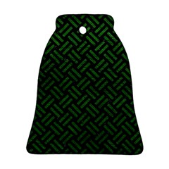 Woven2 Black Marble & Green Leather Ornament (bell)