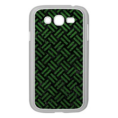 Woven2 Black Marble & Green Leather Samsung Galaxy Grand Duos I9082 Case (white)