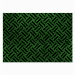 Woven2 Black Marble & Green Leather (r) Large Glasses Cloth (2 Side)