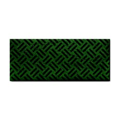 Woven2 Black Marble & Green Leather (r) Cosmetic Storage Cases