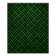Woven2 Black Marble & Green Leather (r) Shower Curtain 60  X 72  (medium)