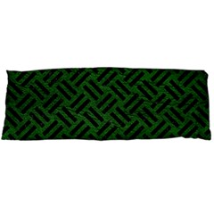 Woven2 Black Marble & Green Leather (r) Body Pillow Case Dakimakura (two Sides)