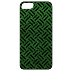 Woven2 Black Marble & Green Leather (r) Apple Iphone 5 Classic Hardshell Case