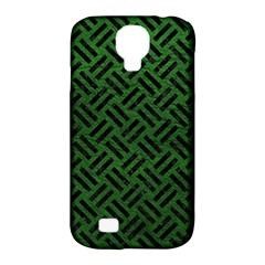 Woven2 Black Marble & Green Leather (r) Samsung Galaxy S4 Classic Hardshell Case (pc+silicone)