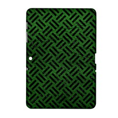 Woven2 Black Marble & Green Leather (r) Samsung Galaxy Tab 2 (10 1 ) P5100 Hardshell Case