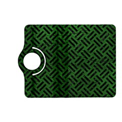 Woven2 Black Marble & Green Leather (r) Kindle Fire Hd (2013) Flip 360 Case