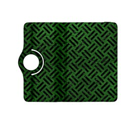 Woven2 Black Marble & Green Leather (r) Kindle Fire Hdx 8 9  Flip 360 Case