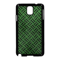 Woven2 Black Marble & Green Leather (r) Samsung Galaxy Note 3 Neo Hardshell Case (black)