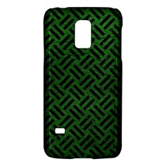 Woven2 Black Marble & Green Leather (r) Galaxy S5 Mini