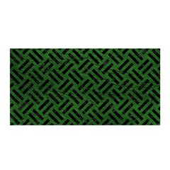 Woven2 Black Marble & Green Leather (r) Satin Wrap
