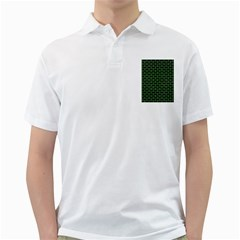 Brick1 Black Marble & Green Watercolor Golf Shirts