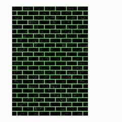 Brick1 Black Marble & Green Watercolor Small Garden Flag (two Sides)