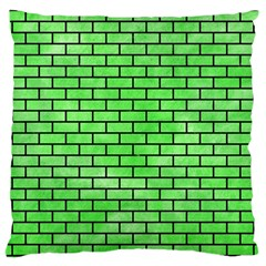 Brick1 Black Marble & Green Watercolor (r) Large Cushion Case (one Side)