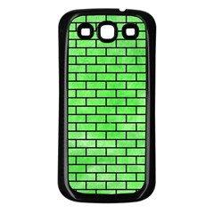 Brick1 Black Marble & Green Watercolor (r) Samsung Galaxy S3 Back Case (black)