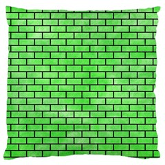 Brick1 Black Marble & Green Watercolor (r) Standard Flano Cushion Case (two Sides)