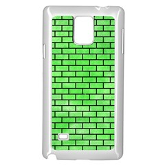 Brick1 Black Marble & Green Watercolor (r) Samsung Galaxy Note 4 Case (white)