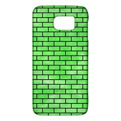 Brick1 Black Marble & Green Watercolor (r) Galaxy S6