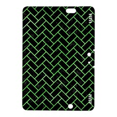 Brick2 Black Marble & Green Watercolor Kindle Fire Hdx 8 9  Hardshell Case