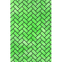 Brick2 Black Marble & Green Watercolor (r) 5 5  X 8 5  Notebooks