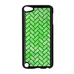 Brick2 Black Marble & Green Watercolor (r) Apple Ipod Touch 5 Case (black)