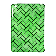 Brick2 Black Marble & Green Watercolor (r) Apple Ipad Mini Hardshell Case (compatible With Smart Cover)