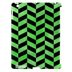 Chevron1 Black Marble & Green Watercolor Apple Ipad 3/4 Hardshell Case (compatible With Smart Cover)