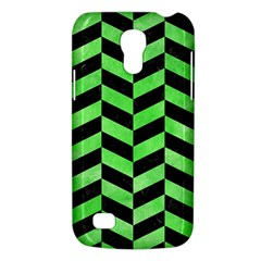 Chevron1 Black Marble & Green Watercolor Galaxy S4 Mini