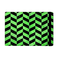 Chevron1 Black Marble & Green Watercolor Ipad Mini 2 Flip Cases