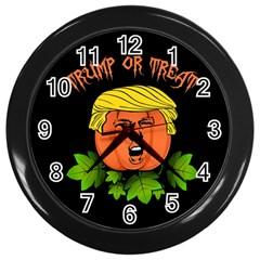 Trump Or Treat  Wall Clocks (black)