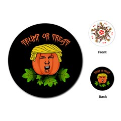 Trump Or Treat  Playing Cards (round)
