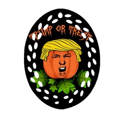 Trump Or Treat  Oval Filigree Ornament (two Sides)