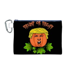 Trump Or Treat  Canvas Cosmetic Bag (m)