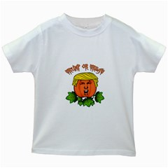 Trump Or Treat  Kids White T Shirts