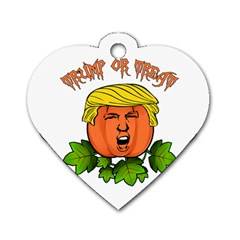 Trump Or Treat  Dog Tag Heart (two Sides)