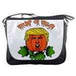 Trump or treat  Messenger Bags Front