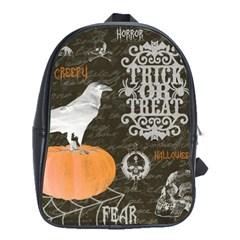Vintage Halloween School Bag (large)
