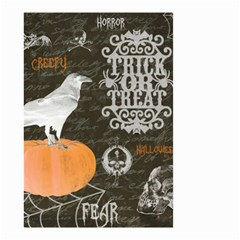 Vintage Halloween Small Garden Flag (two Sides)