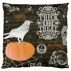 Vintage Halloween Large Cushion Case (one Side)