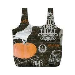 Vintage Halloween Full Print Recycle Bags (m)