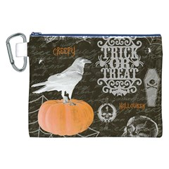 Vintage Halloween Canvas Cosmetic Bag (xxl)