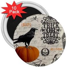 Vintage Halloween 3  Magnets (10 Pack)