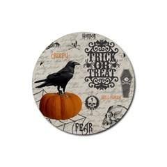 Vintage Halloween Rubber Coaster (round)